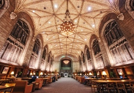 Inside of university library